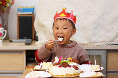 азиатский малыш дня рождения Стоковое Изображение