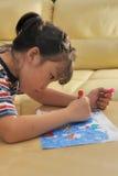 азиатский малыш чертежа Стоковое Изображение RF