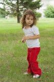 азиатский младенец милый outdoors Стоковое Изображение RF
