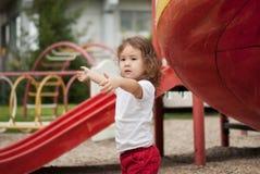 азиатский младенец милый outdoors Стоковые Фотографии RF
