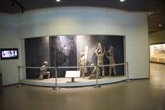 Азиатский музей китайца, Пекина, женщин и детей, крытый выставочный зал Стоковые Изображения