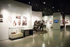 Азиатский музей китайца, Пекина, женщин и детей, крытый выставочный зал Стоковое Изображение