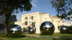 Азиатский музей цивилизации с художественным произведением сток-видео