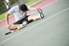 азиатский мыжской теннис игрока Стоковые Изображения