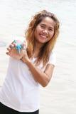 азиатский океан девушки Стоковые Изображения RF