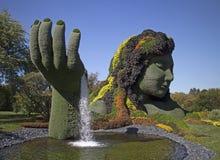 Азиатский орнаментальный сад Стоковые Изображения RF