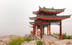Азиатский павильон в Yantai Китае Стоковые Изображения RF