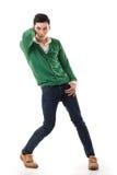Азиатский парень с драматическим представлением стоковая фотография rf