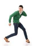 Азиатский парень с драматическим представлением стоковые фото