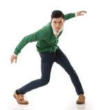 Азиатский парень с драматическим представлением стоковая фотография