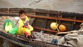 азиатский плавая рынок Стоковые Изображения RF