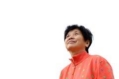 Азиатский пожилой гражданин Стоковые Фото