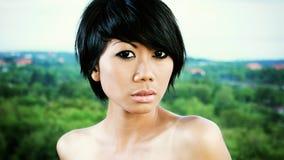 Азиатский портрет девушки стоковая фотография rf