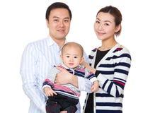 азиатский портрет семьи стоковое изображение rf