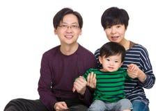 азиатский портрет семьи Стоковая Фотография