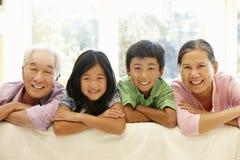 азиатский портрет семьи Стоковое Изображение