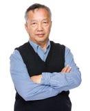 Азиатский портрет старика Стоковая Фотография RF