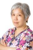 Азиатский портрет старухи Стоковая Фотография