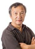 Азиатский портрет старшего человека Стоковые Изображения