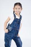 Азиатский портрет студии девушек Стоковая Фотография