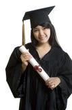 азиатский привлекательный аспирант Стоковое Изображение RF