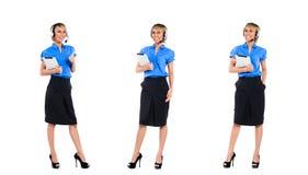 Азиатский профессионал женщины агента центра телефонного обслуживания Стоковое Изображение RF