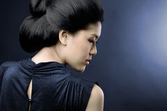 азиатский профиль Стоковое фото RF