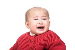 азиатский плакать младенца стоковые изображения rf