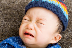 Азиатский плакать ребёнка Стоковые Фото