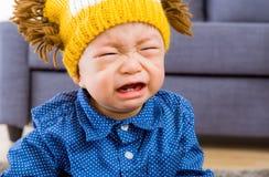 Азиатский плакать ребёнка Стоковое Фото