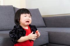 Азиатский плакать ребёнка Стоковые Изображения