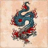 азиатский дракон традиционный стоковые изображения