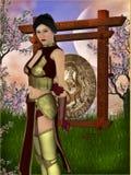 Азиатский ратник Стоковое Изображение
