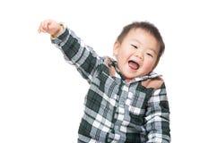 Азиатский ребёнок чувствуя возбужденный стоковые фото