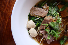 Азиатский рецепт лапши риса Стоковое фото RF