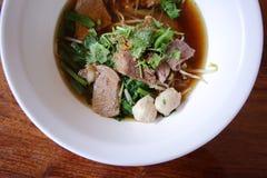 Азиатский рецепт лапши риса Стоковые Изображения