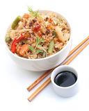 азиатский рис тарелки Стоковое Фото