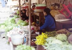 азиатский рынок Стоковое фото RF