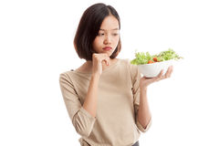 Азиатский салат ненависти бизнес-леди Стоковое Изображение