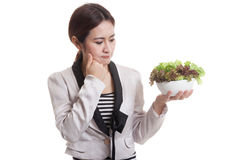 Азиатский салат ненависти бизнес-леди Стоковые Фотографии RF