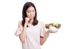 Азиатский салат ненависти бизнес-леди Стоковые Фото