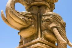 Азиатский слон скульптуры Стоковое Изображение RF