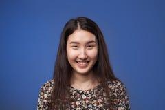 Азиатский смех девушки Стоковая Фотография RF