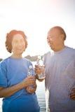 азиатский старший пар Стоковые Фото