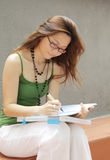 азиатский студент Стоковая Фотография