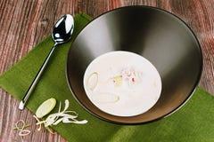 Азиатский суп морепродуктов с крабом Стоковое Изображение RF