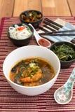 Азиатский суп с креветками Стоковая Фотография
