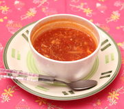 азиатский суп Стоковое Фото