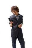 азиатский телефон бизнесмена Стоковая Фотография