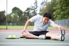 азиатский теннис игрока стоковое изображение